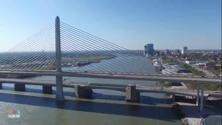 veterans Bridge Drone flyover, Toledo Ohio