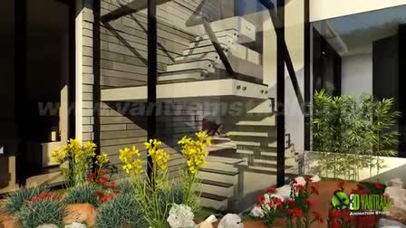 3D Residential House Exterior Interior Virtual Tour By Yantram 3D Exterior Walkthrough Animation