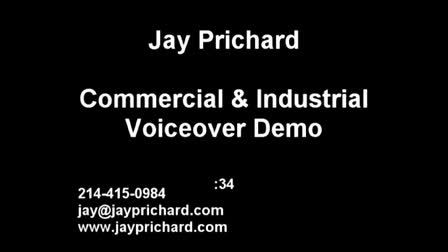 Commercial and Industrial Voiceover Demo Jay Prichard