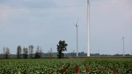 Wind farming in rural Michigan