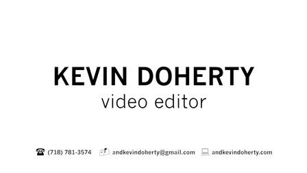 Show Reel 2018 - Kevin Doherty