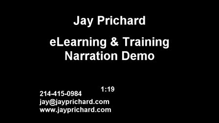 eLearning Training Tutorials How-To Compliance Voiceover Demo Jay Prichard