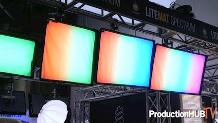David Wells Showcases the LiteGear LiteMat Spectrum LED Fixtures at NAB 2019