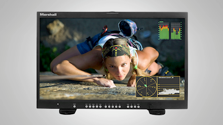 "Marshall Electronics Debuts Their 24"" 4K Master Confidence Monitor at Cine Gear LA 2019"