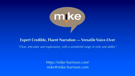 Mike Harrison eLearning Voice Over/Narration Demo