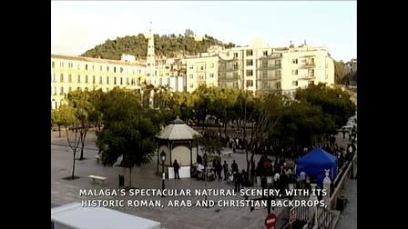Antonio Banderas Filming in Malaga