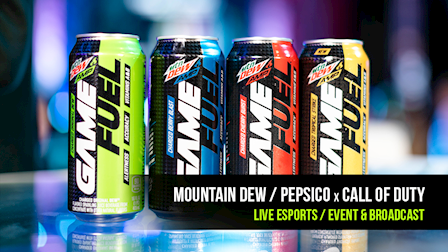 GameFuel x Call of Duty: Esports Live Production for Mountain Dew/Pepsico