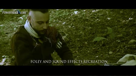 Film audio Post Production example. Foley and Sound Effects Recreation
