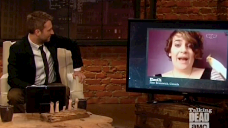 Talking Dead Q&A / Skype TX HD Live Video and Video Messages / Live National Broadcast