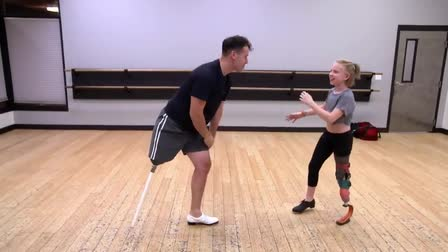11-Year-Old With 1 Leg Still Dances With Professional Tapper
