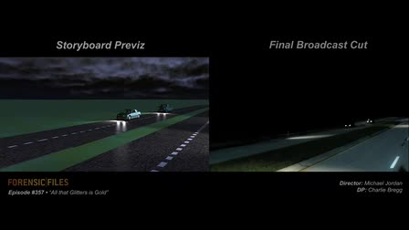 """Forensic Files """"All that Glitters is Gold"""" Storyboard Previz"""