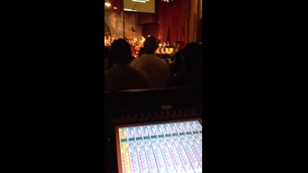 Mixing FOH @ Times Square Church 9 28 2014