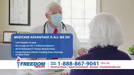 Freedom Health Insurance National Commercial Spot 15