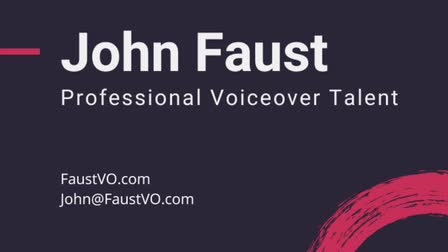 John Faust Commercial Voiceover Demo