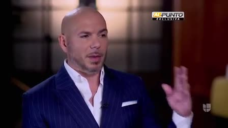 Jorge Ramos Al PUNTO with Pitbull