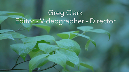 Greg Clark Demo Reel 2021