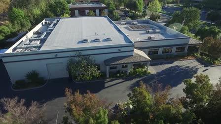 Drone Flyover of Goal Line Studios