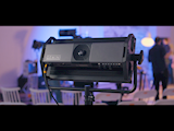 David Wells of Moving Picture Talks Litepanels Gemini Versatile 2x1 Soft Panel at NAB 2018