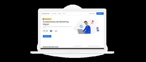 Ilustración capacitación marketing digital de Google