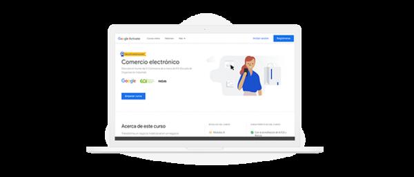 Ilustración curso de google sobre ecommerce