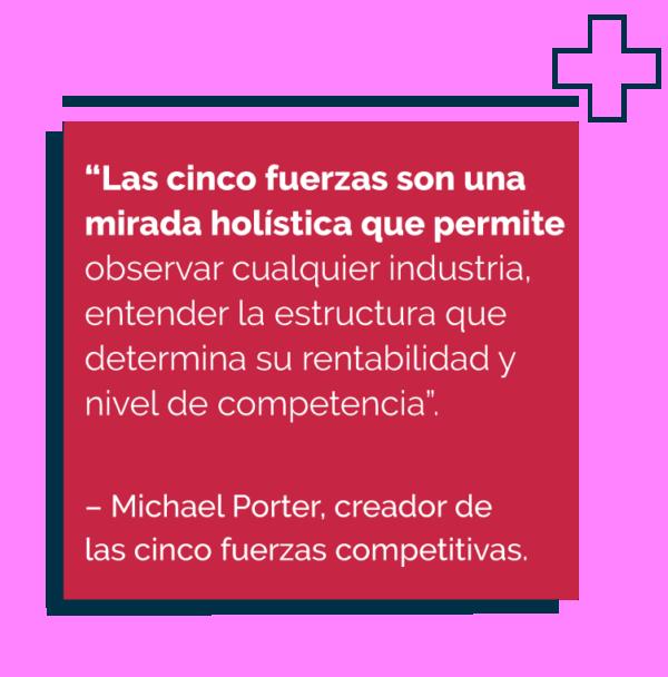 Cita definión sobre las 5 fuerzas de Porter