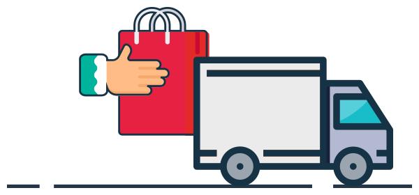 Ilustración logística pagos contraentrega tiendas virtuales