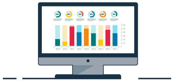Ilustración métricas de medición digital