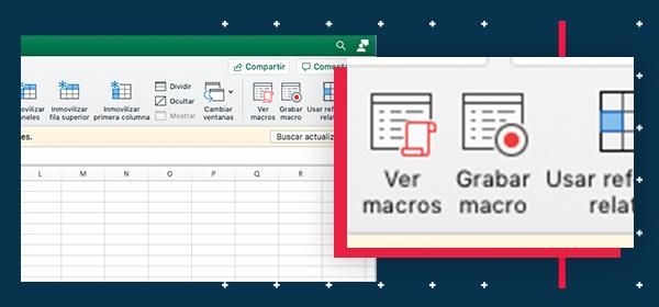 Opción grabar macros en Excel