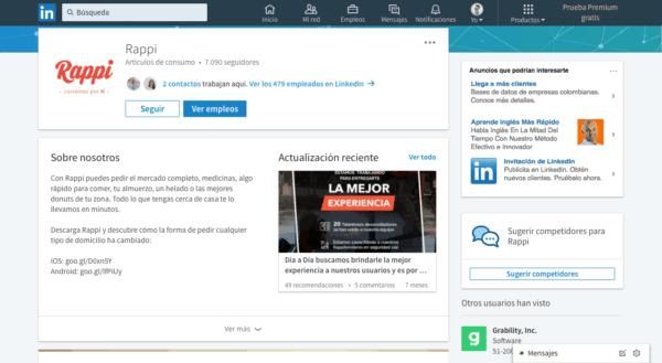 LinkedIn Rappi