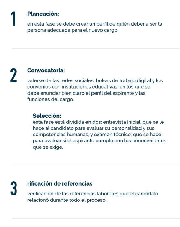 Tres pasos para realizar la contratación de personal