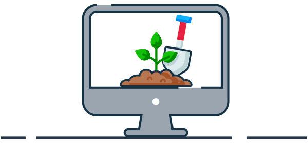 Ilustración tecnología en el agro
