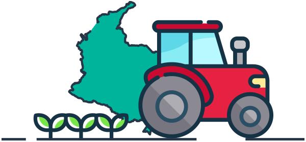 Ilustración exportaciones agro Colombiano