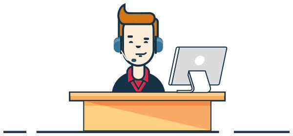 Ilustración persona de servicio al cliente