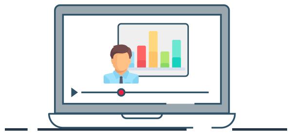Ilustración capacitación virtual para reactivar negocios