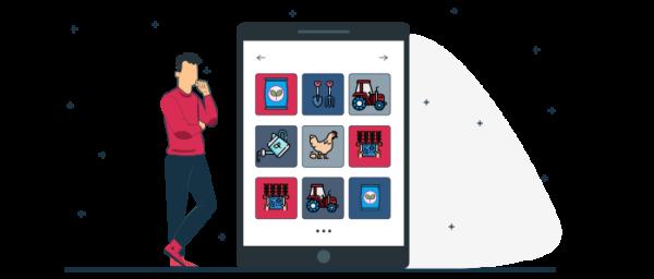 Ilustración de como hacer un catalogo digital