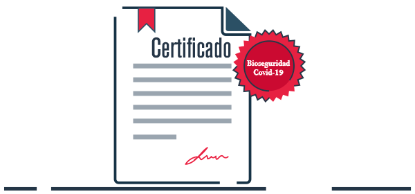 Ilustración certificado operaciones bioseguras Empresas