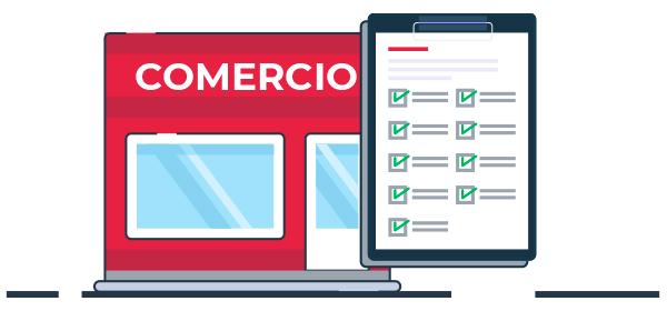 Ilustración listado de requerimientos desarrollo e-commerce