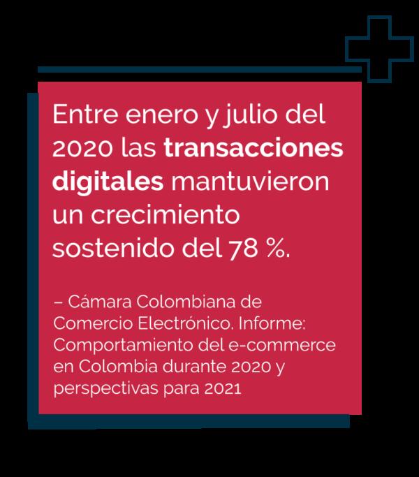 Cifra sobre las transacciones digitales en Colombia