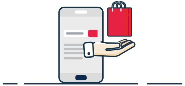 Ilustración ventas digitales por celular