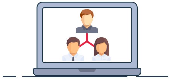 Ilustración equipo de trabajo en coworking