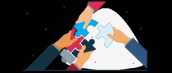 Ilustración armando una estrategia de ventas