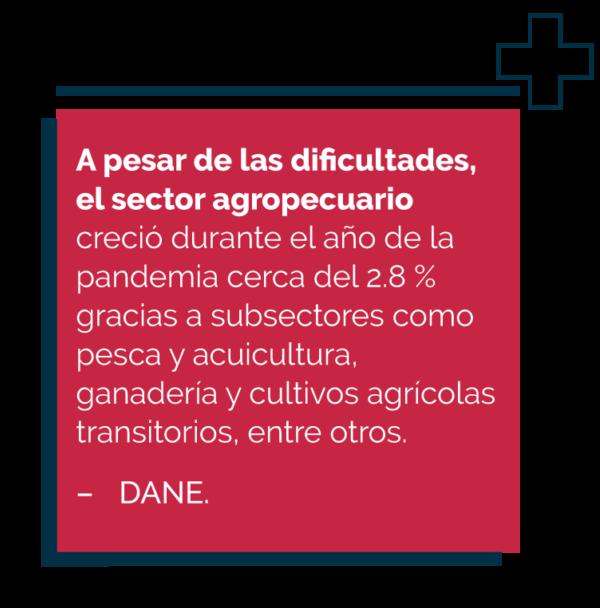 Dato de crecimiento agro Colombiano en pandemia