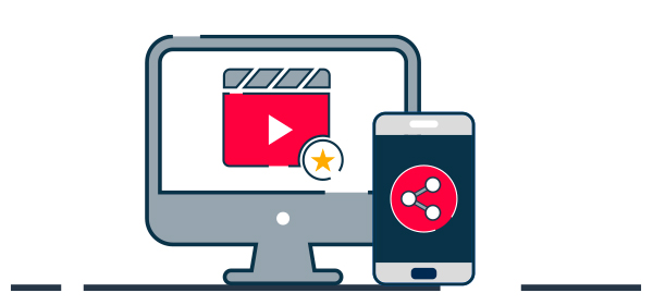 Ilustración ecommerce servicio de video