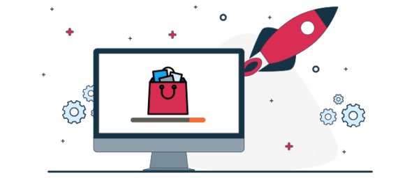 Ilustración de optimización de ecommerce