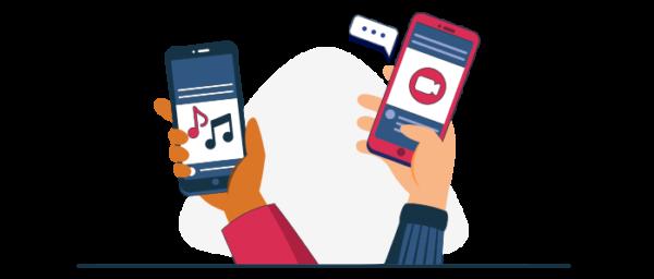 Ilustración tipos de aplicaciones freemium móviles