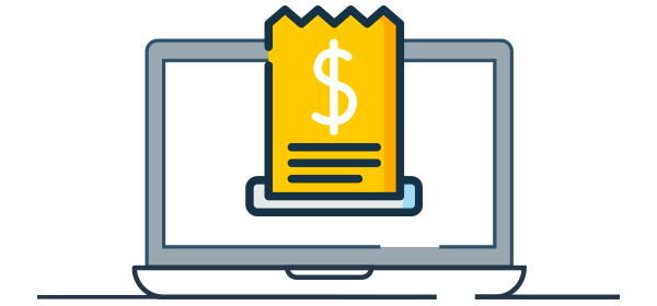 Ilustración factura electrónica digital