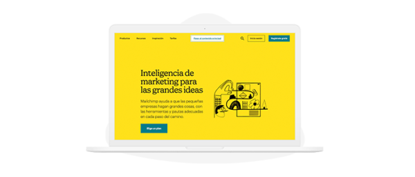 Herramienta Mailchimp para email marketing gratuita