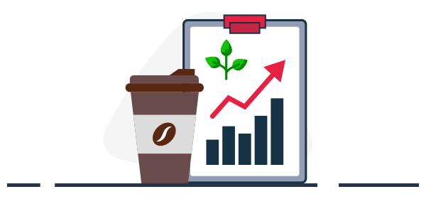 Ilustración sobre crecimiento del agro