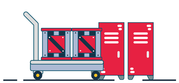 Ilustración logística y organización eficiente de pedidos en una tienda