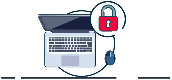 Ilustración protección en ciberseguridad